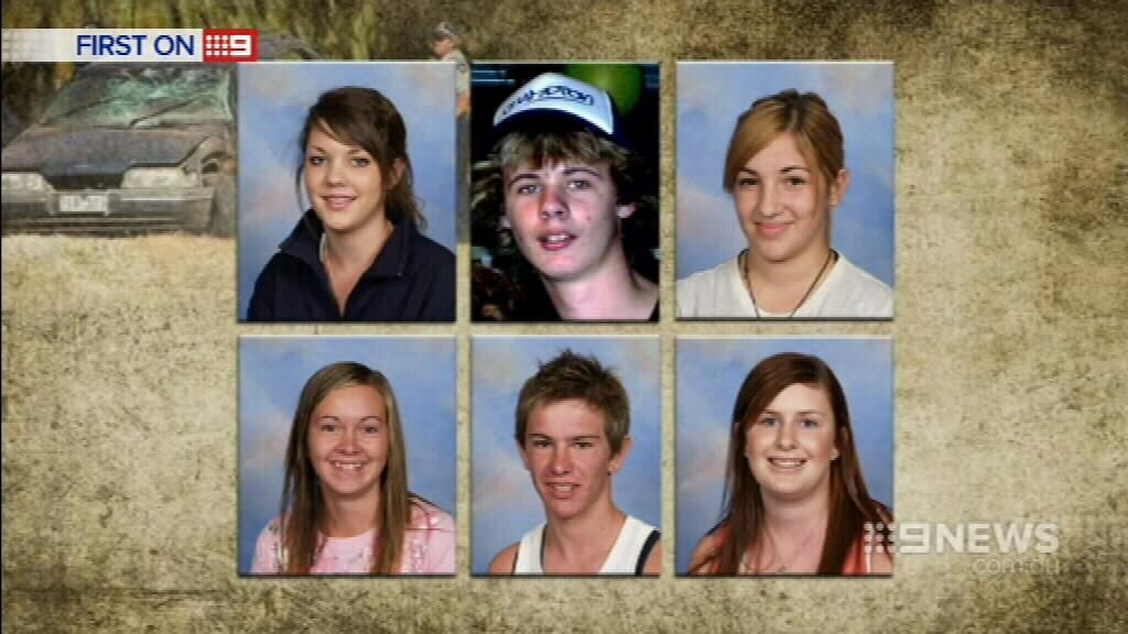 Six teenagers were killed in the crash. (9NEWS)