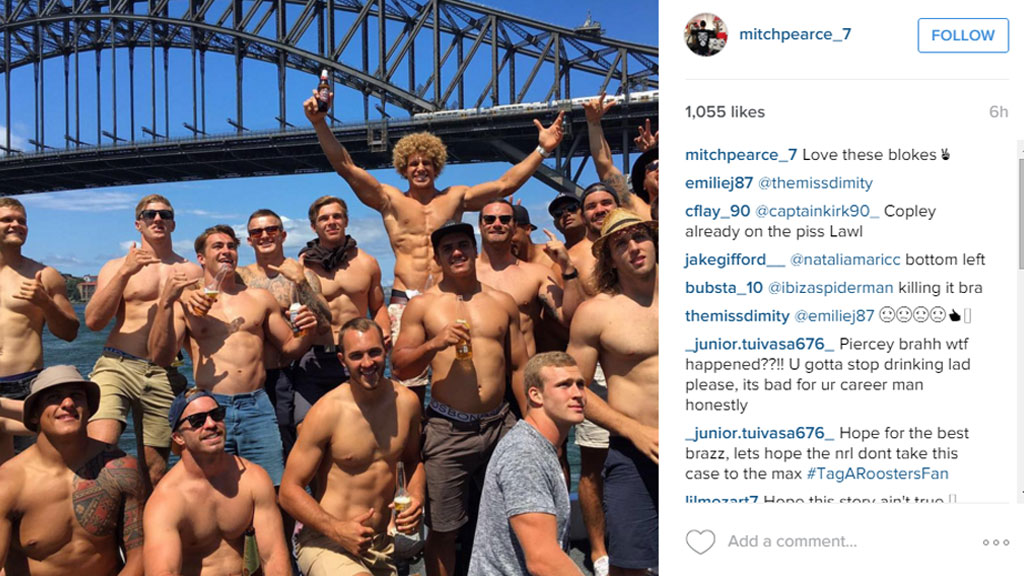 An image uploaded by Mitchell Pearce earlier on Australia Day. (Instagram/mitchpearce_7)