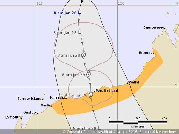 Cyclone alert issued for Pilbara and Kimberley communities as tropical low intensifies off coast