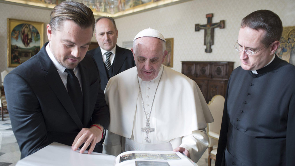 He showed the Pope a book with the works completed by 15th-century Dutch painter Hieronymus Bosch. (AAP)