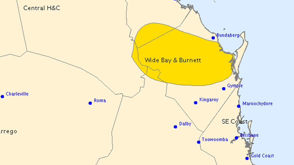 Queensland's Wide Bay and Burnett region braces for more heavy rain and wind