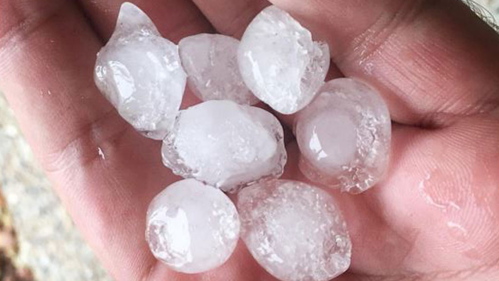 Hail hits south-east Queensland
