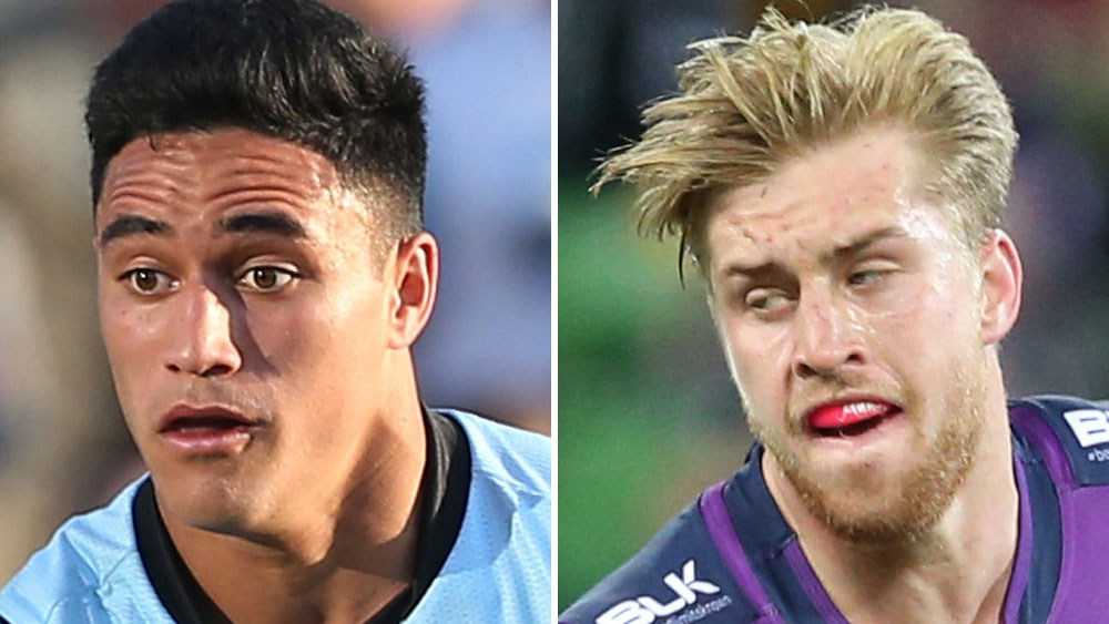Valentine Holmes (l) and Cameron Munster. (AAP)