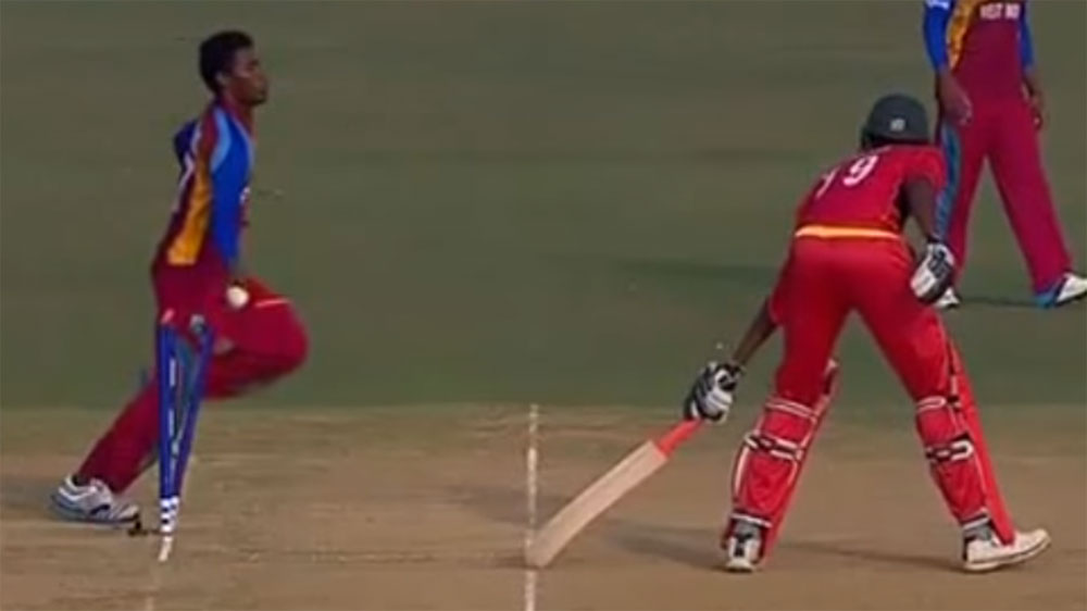 West Indies use Mankad to beat Zimbabwe