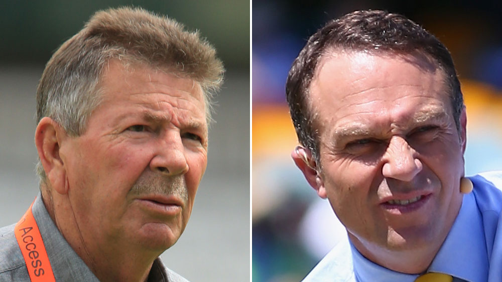 Rod Marsh (l) and Michael Slater. (AAP and Getty)