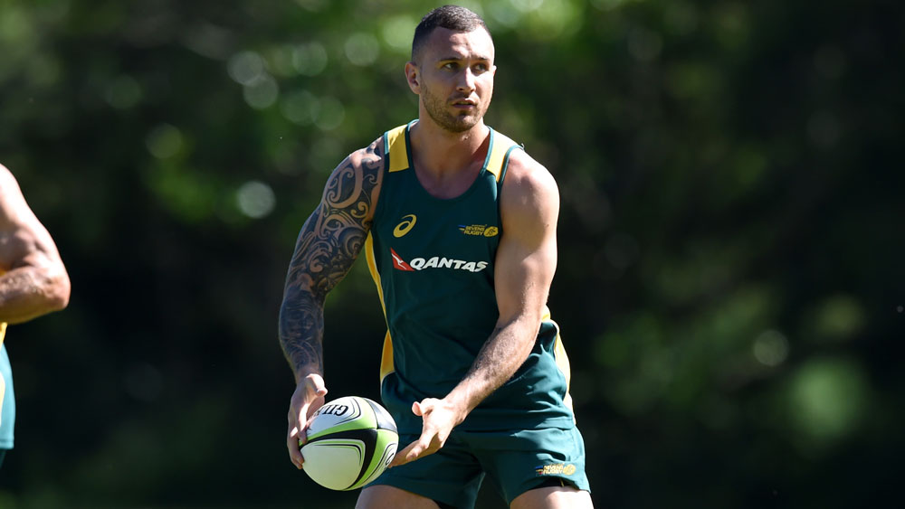 Quade Cooper will enhance the Wallabies squad according to All Blacks coach Steve Hansen.(AAP)