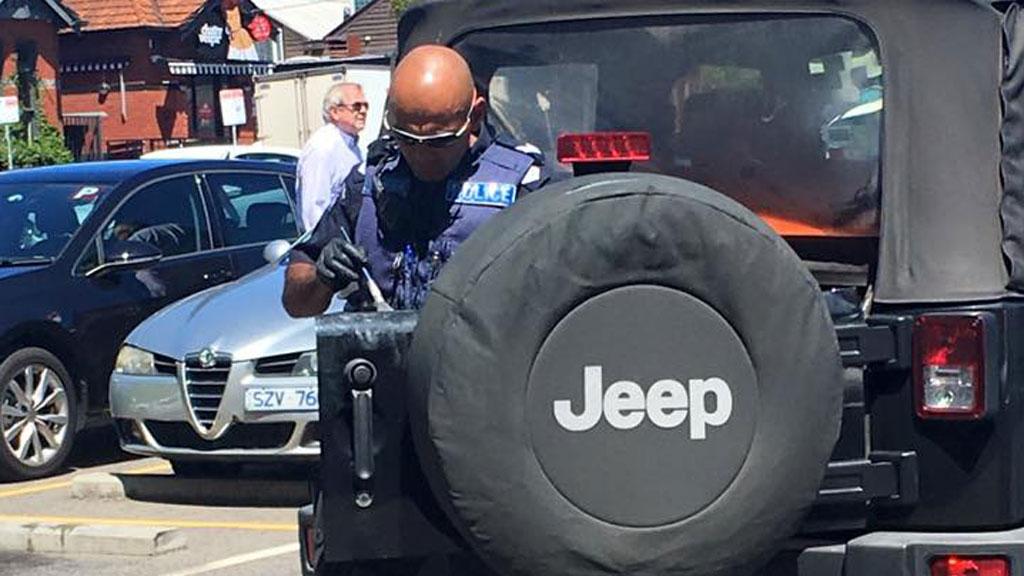 Police arrived on scene shortly after. (Domenic Gentile/ Facebook)