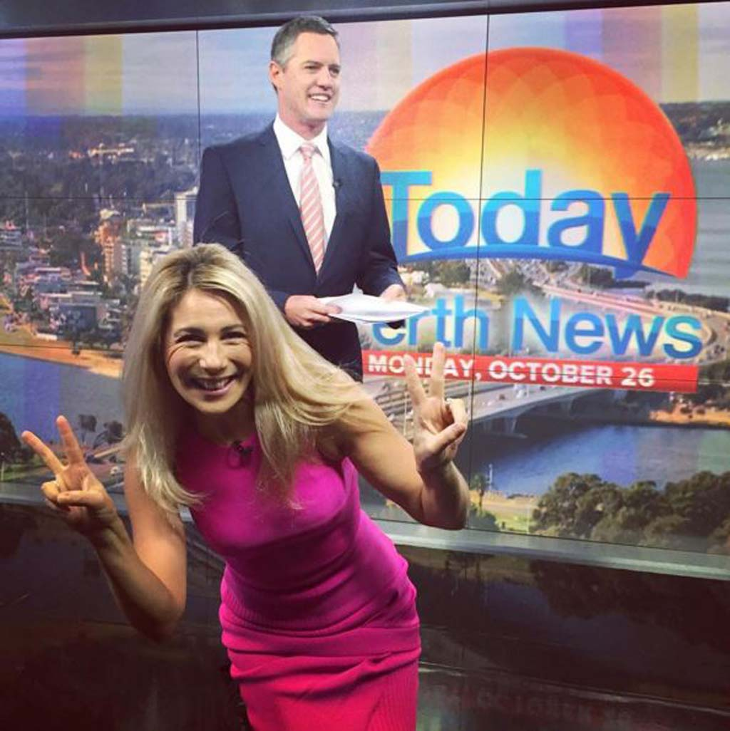 Lisa Fernandez and TODAY Perth presenter Tim McMillan. (Instagram)