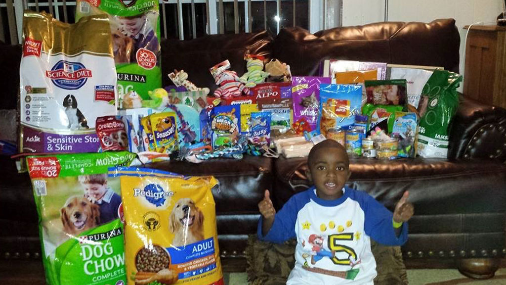 Five-year-old dedicates his birthday to helping rescue animals