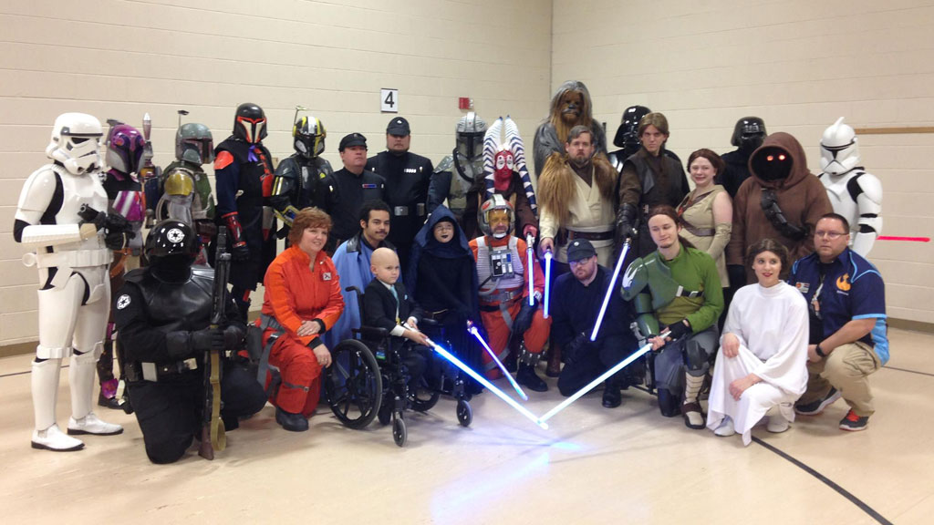 Kind stranger throws six-year-old boy with cancer a Star Wars themed birthday