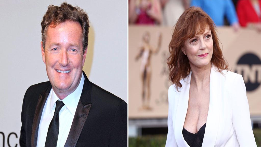 Susan Sarandon fires back at Piers Morgan over SAG awards cleavage complaint