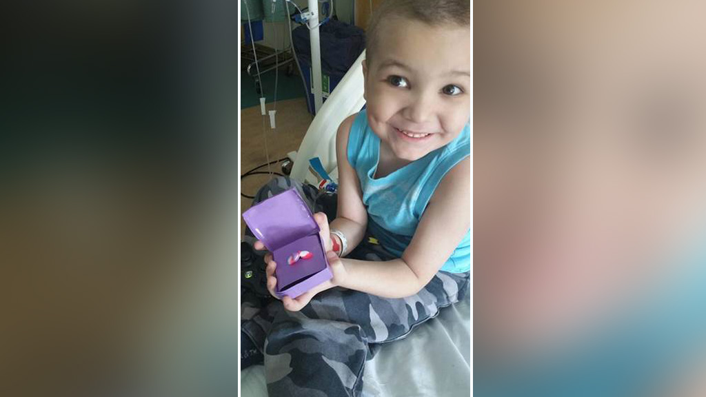 Five-year-old boy battling leukaemia proposes to his favourite nurse