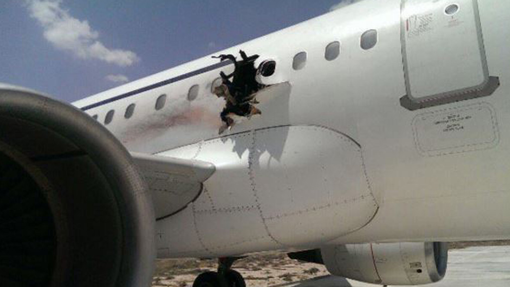 Blast that killed one on Somalia passenger plane 'was caused by bomb': officials