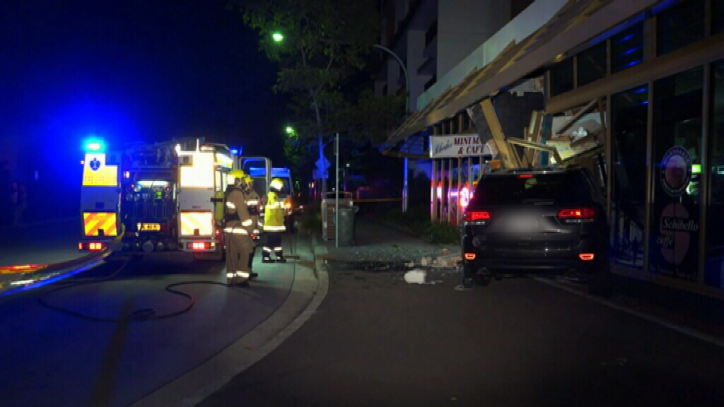 Emergency services fear the building is about to collapse. (9NEWS)