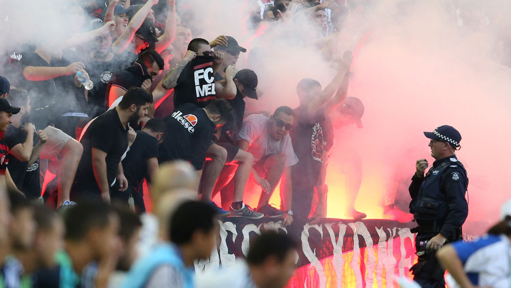 Gallop threatens fan bans over flares