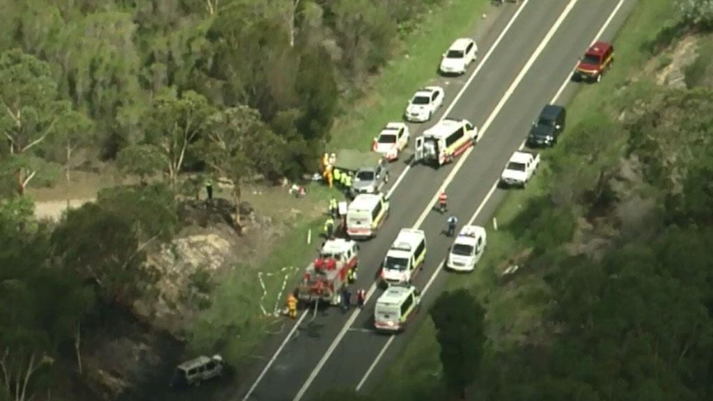 Man killed in three-car crash near Picton, south-west of Sydney