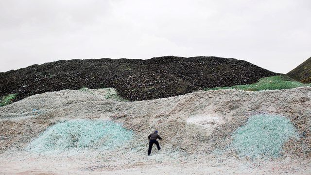 In pictures: Mountains of glass dot Israeli landscape