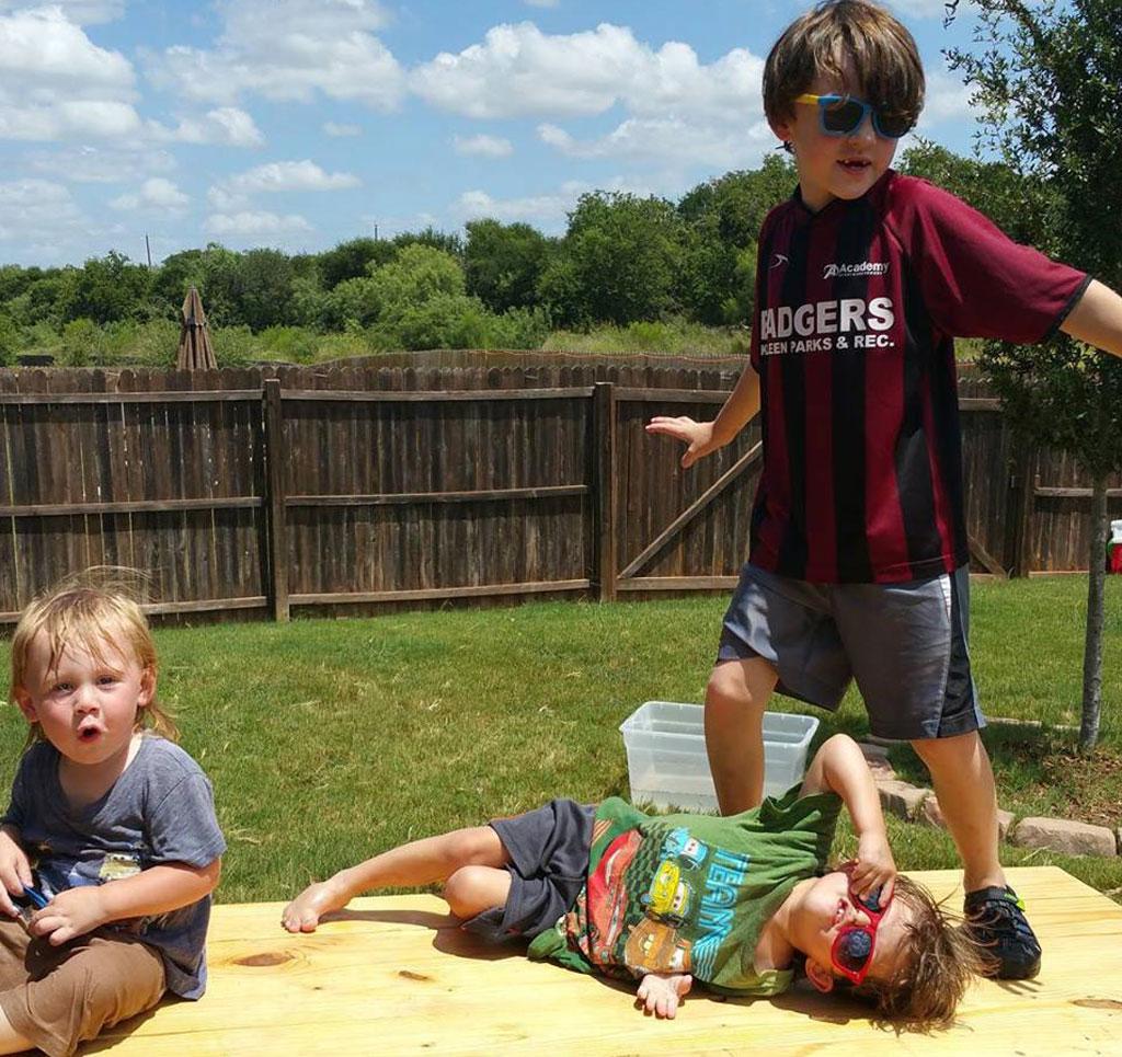 Meyer has three sons, Jackson, 7, Jameson, 4 and Jasper, 2. (AliceAnn Meyer/ Facebook)