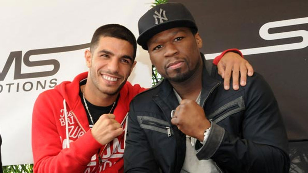 Billy Dib (l) with 50 cent. (Supplied)