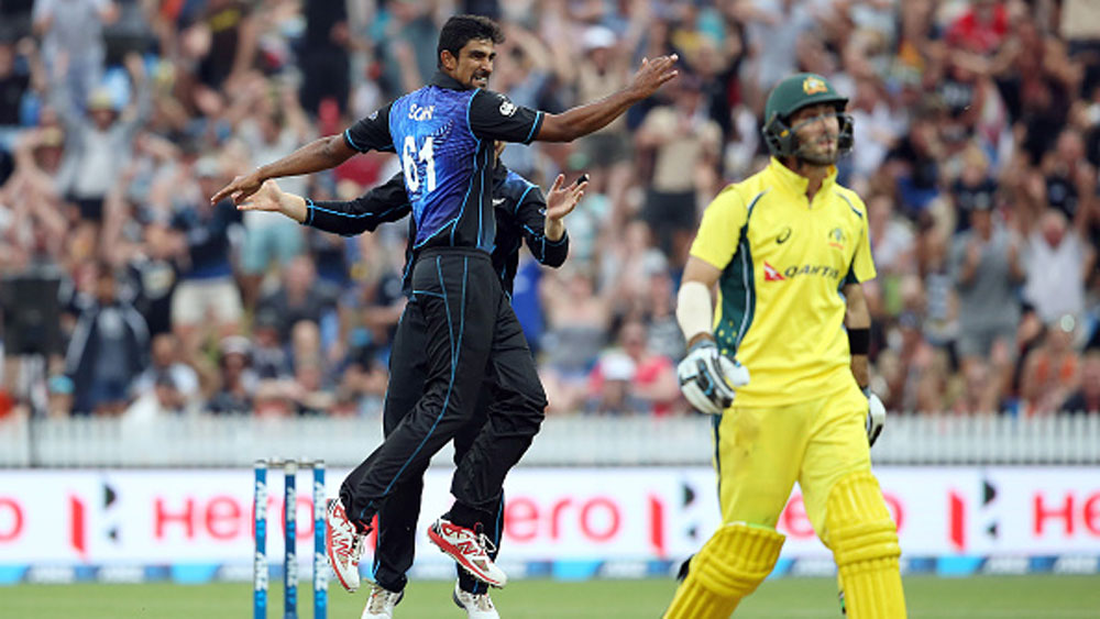 Glen Maxwell rues his dismissal against New Zealand in the third ODI clash. (Getty)