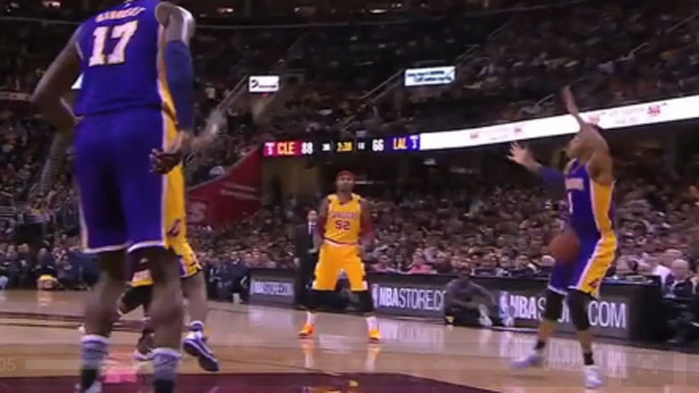 LeBron floors rival with low blow