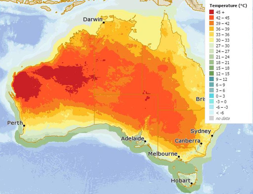 Fire danger warnings issued as Western Australian heatwave forecast to approach 50C