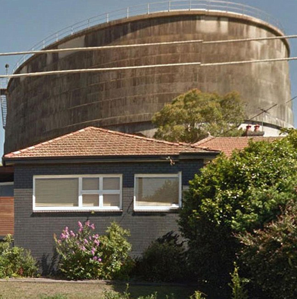 The house in Penshurst is sat in front of a large water tank. (Supplied)