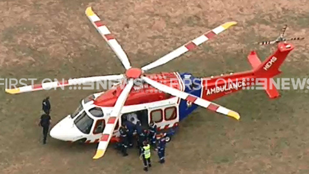 He has been airlifted to the Alfred hospital. (9NEWS)