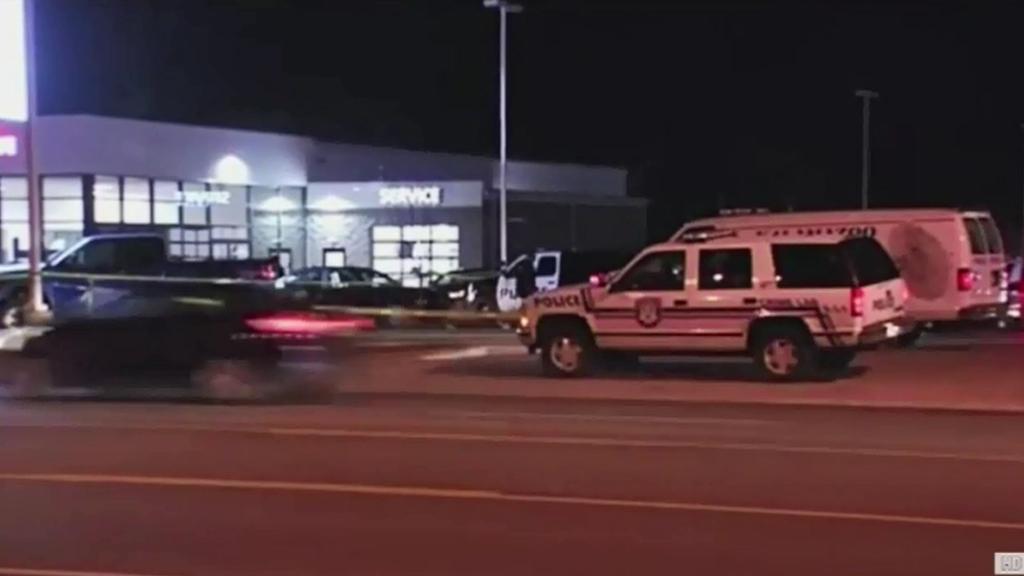 Police respond to the shootings in Kalamazoo, Michigan.