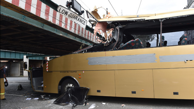 Passengers freed from bus totalled by Mebourne bridge 'wept for joy' (Gallery)
