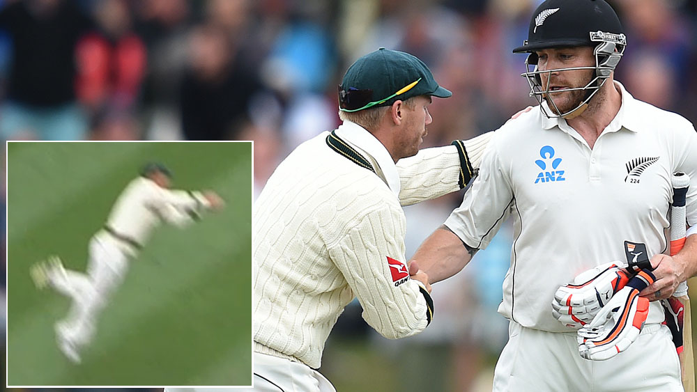McCullum farewelled with spectacular catch