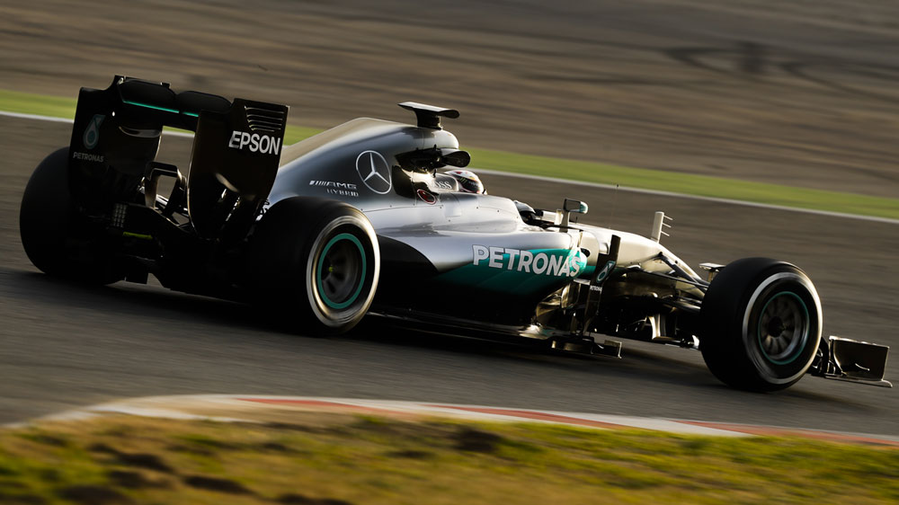Lewis Hamilton during practice. (AFP)