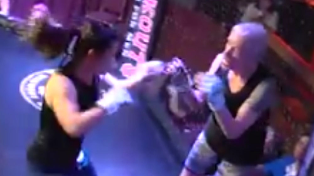 Grandmother pummelled during MMA fight