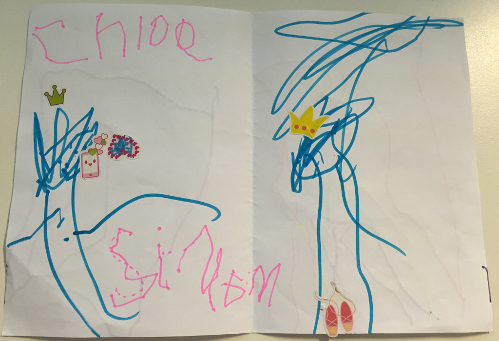 The card Chloe Saxby made for reporter Simon Bouda. (9NEWS)