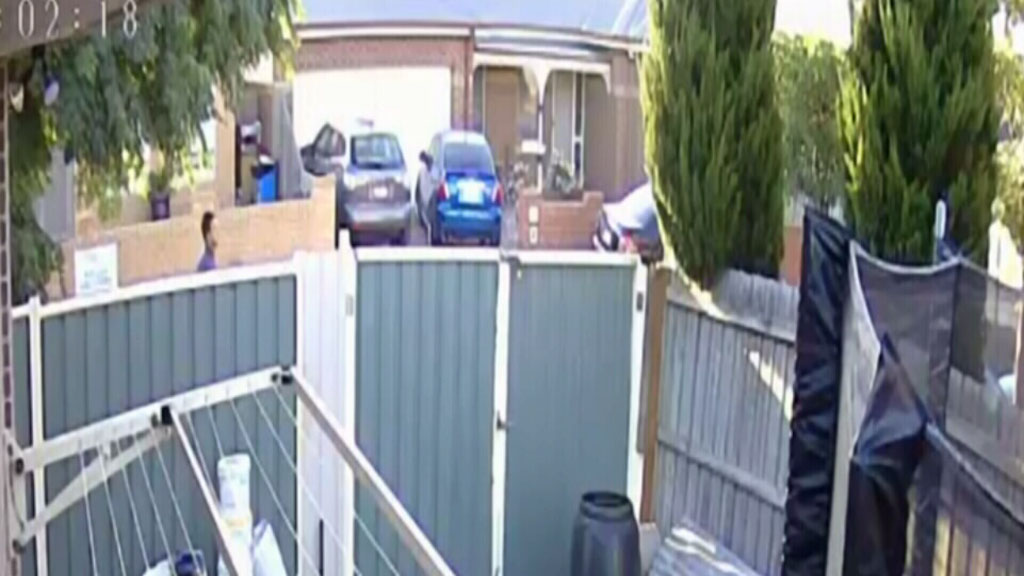 The man fled the area on foot. (Victoria Police)