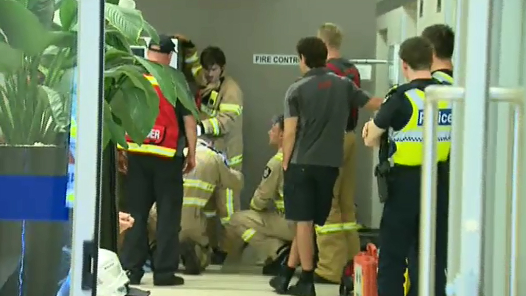 Rescuers spent about six hours working to free the boy. (9NEWS)