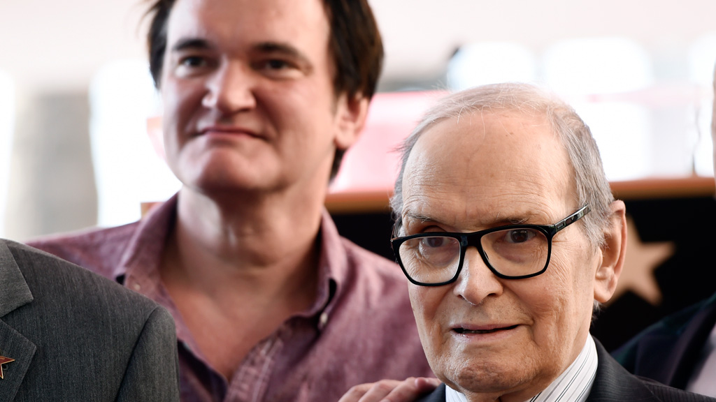 Composer Ennio Morricone won his first Oscar for Quentin Tarantino's The Hateful Eight. (AAP)