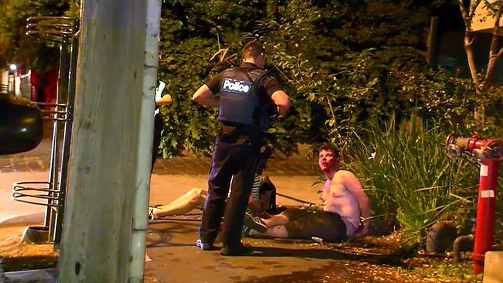 Three men charged over allegedly alcohol-fuelled brawl in Melbourne overnight