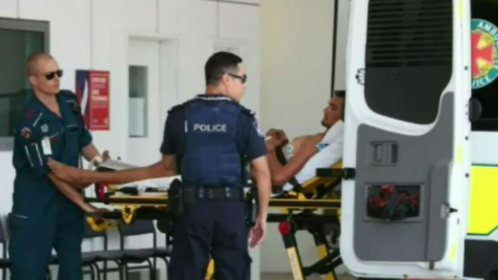 The man remains in a stable condition following the assault in northern Cairns over the weekend. (9NEWS)
