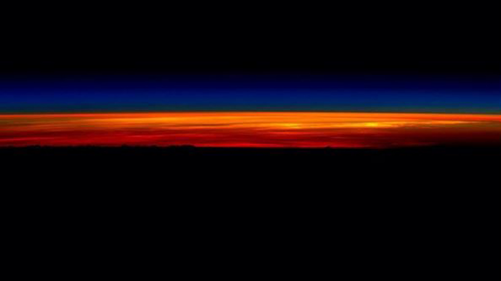 Mr Kelly shared a photo to Instagram nine hours ago of his final sunrise from space. (Instagram: @stationcdrkelly)
