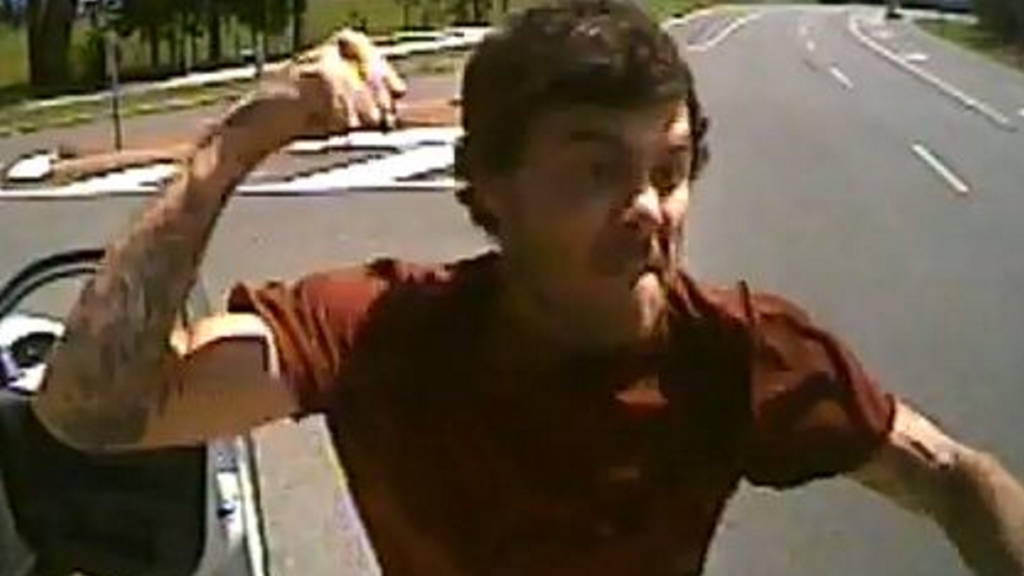 Police are hunting a man after an alleged road rage attack at Caboolture. (Queensland Police Service)