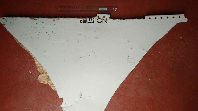 The part with the words 'no step' believed to be from a Boeing 777.