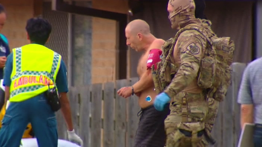 The woman and child were unharmed. (9NEWS)