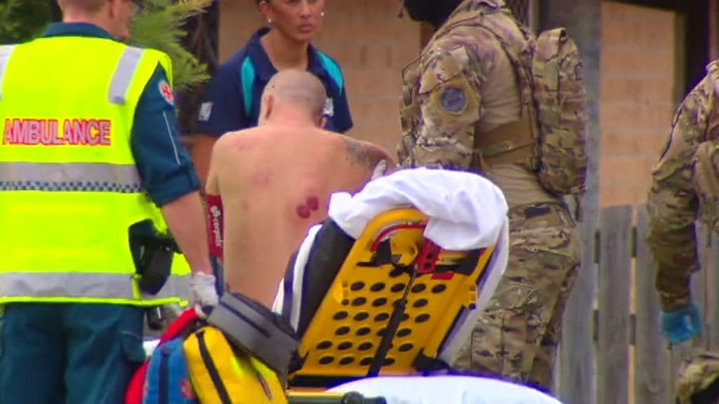 The man was arrested following the police operation. (9NEWS)