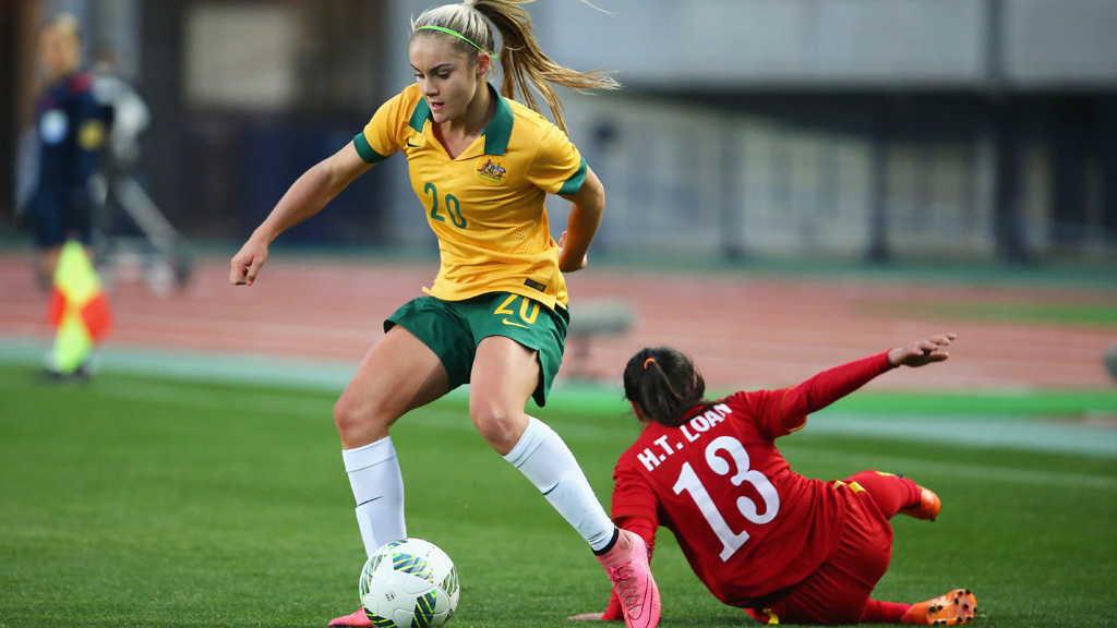 This 15-year-old girl just became the first millennial to play for the Matildas