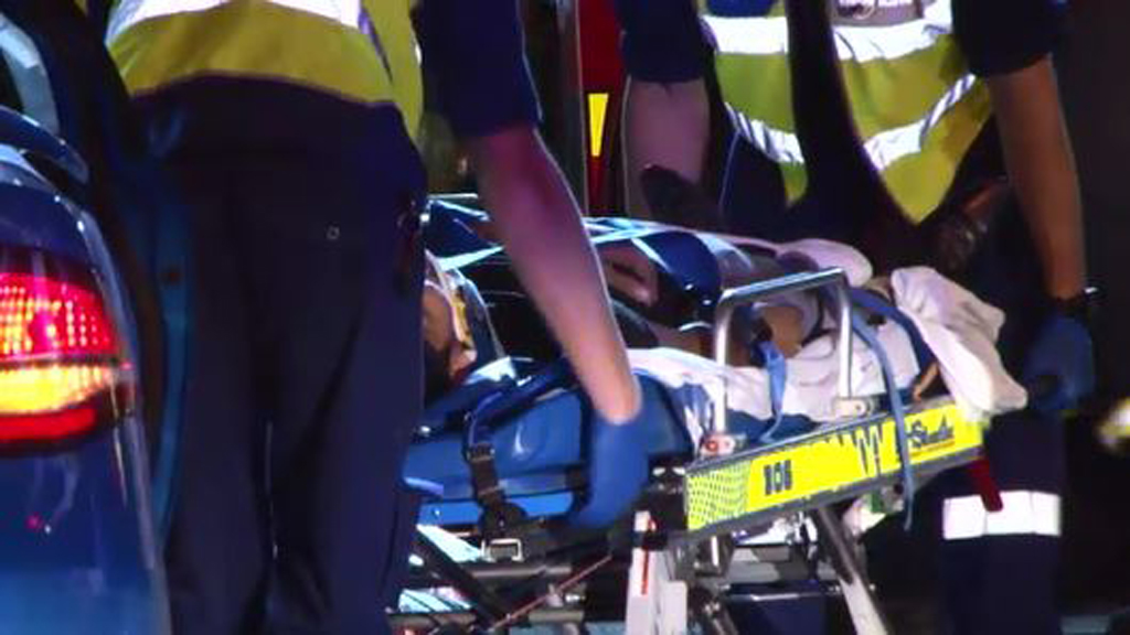 The driver had to be freed from the car by emergency services. (9NEWS)