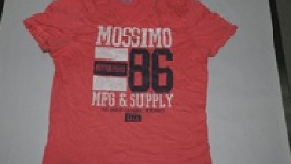 This pink Mossimo brand t-shirt is of particular interest to police. (Victoria Police)