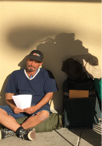 Homeless man lands a job after handing out resumes instead of asking for money
