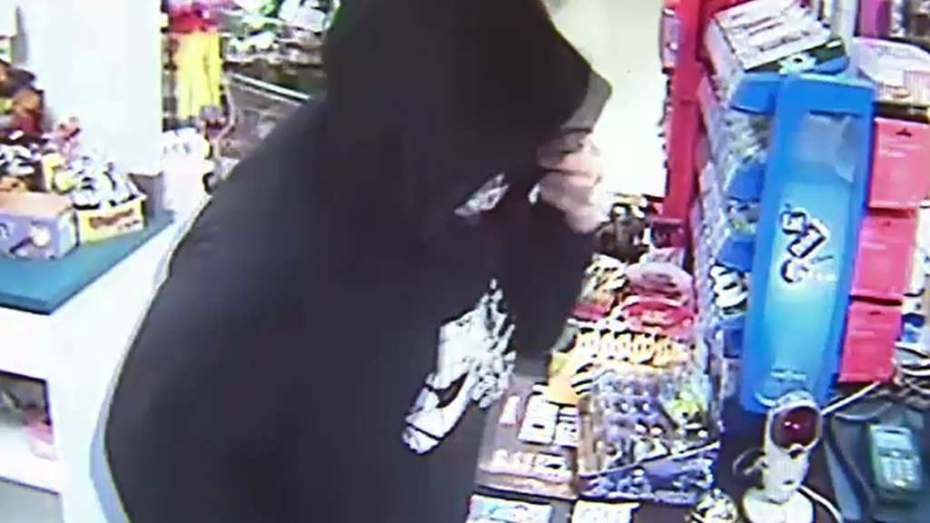 A girl allegedly robbed a Raceview food shop last night. (9NEWS)