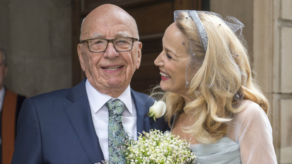 Rupert Murdoch and Jerry Hall celebrate marriage with star-studded service